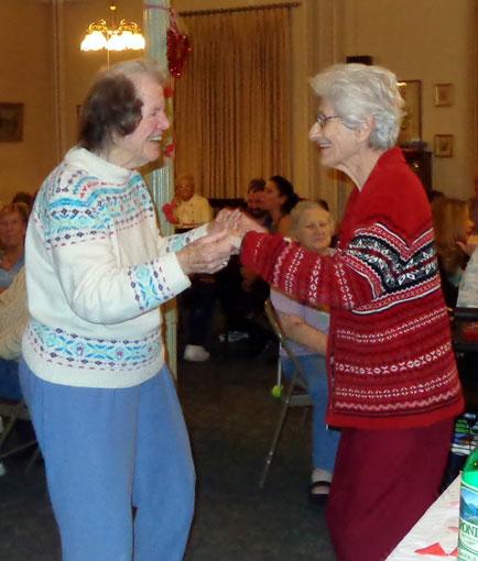 Dancing and having fun at vassar-warner home