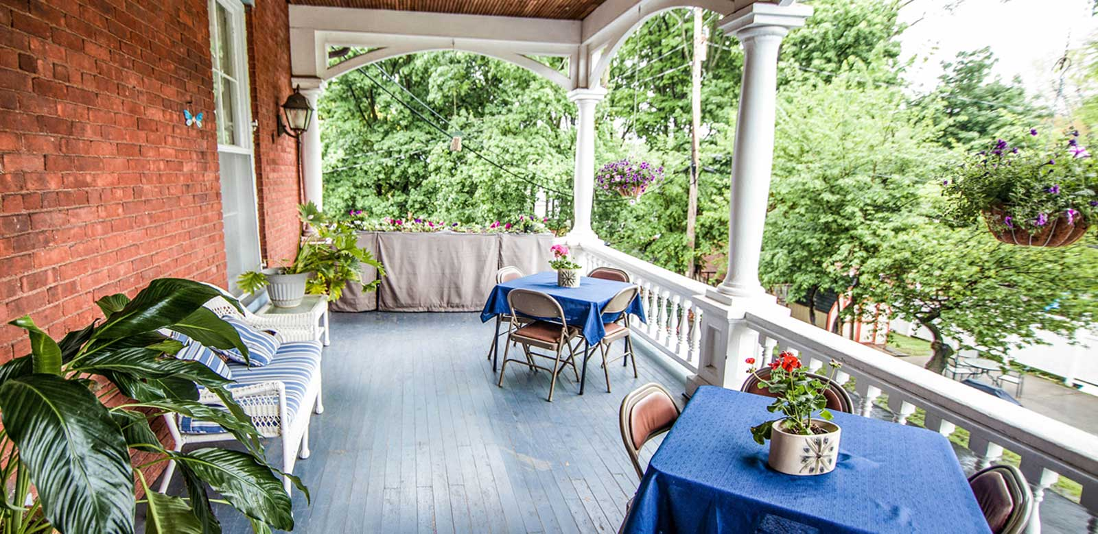 porch at Vassar Warner Home