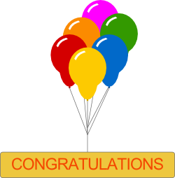 Balloons in Congratulations Image